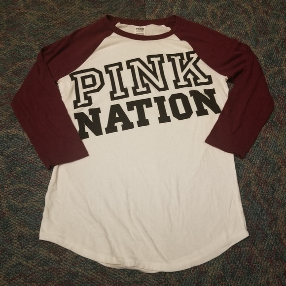 Pink By Victoria Secret Baseball Tee